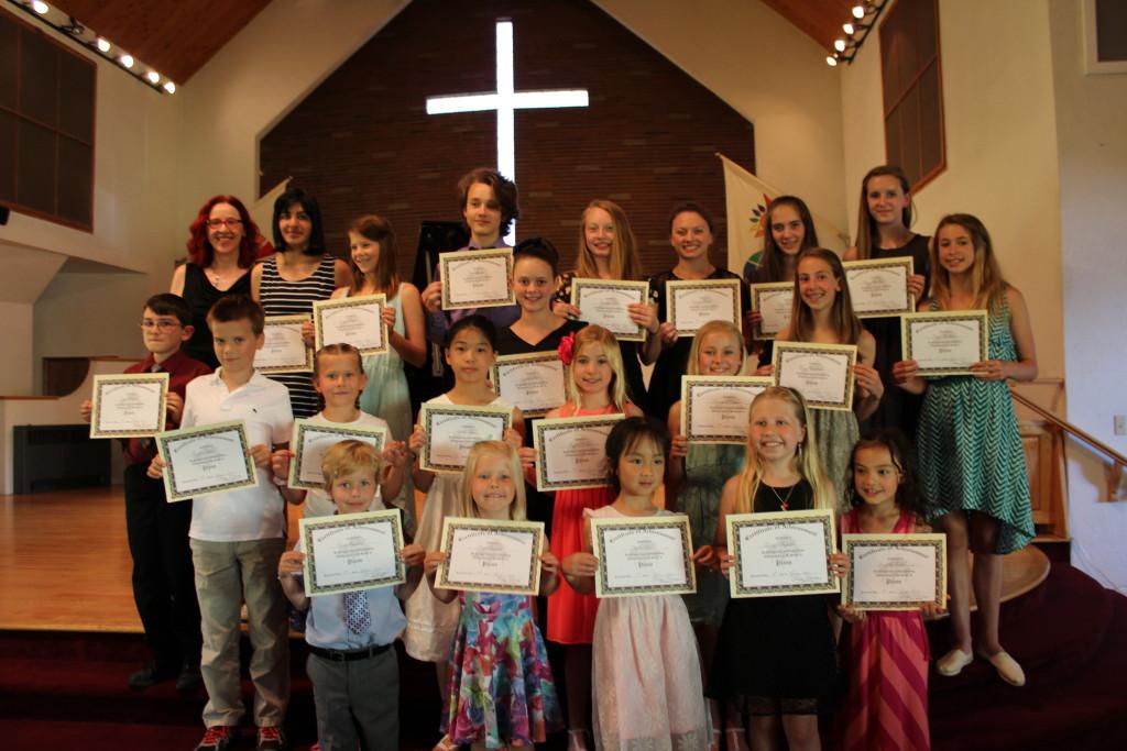 Certificate Recipients at the June 2015 Recital