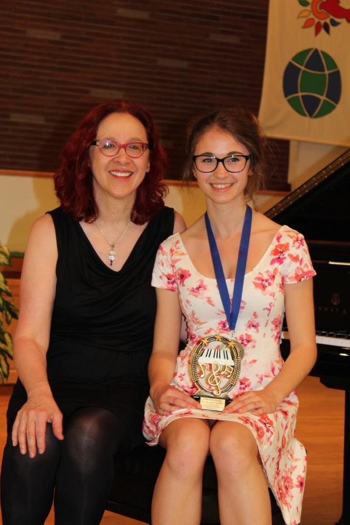 Emily and Helga at the June 2015 Recital