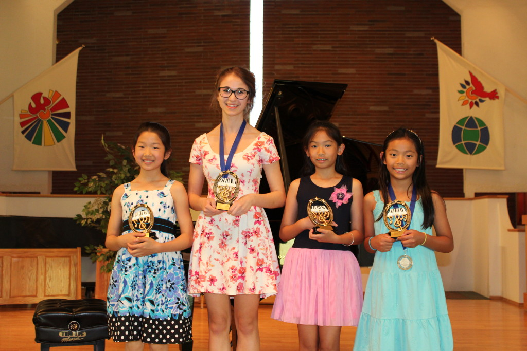 Festival Trophy Winners Presented at the June 2015 Recital