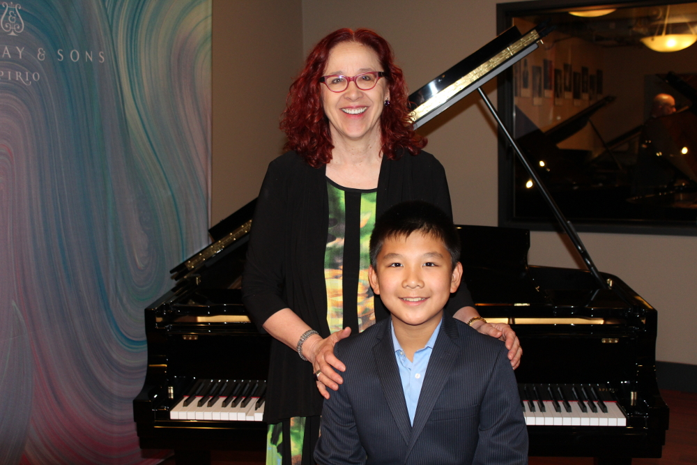 Helga Murray with CMC Winner Ryan Zhu
