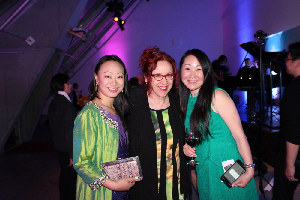 Helga Murray with Renay Zhang and Alice Zhou at the Launch Party