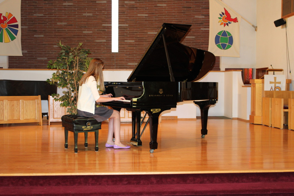Mary-Kate at the Recital