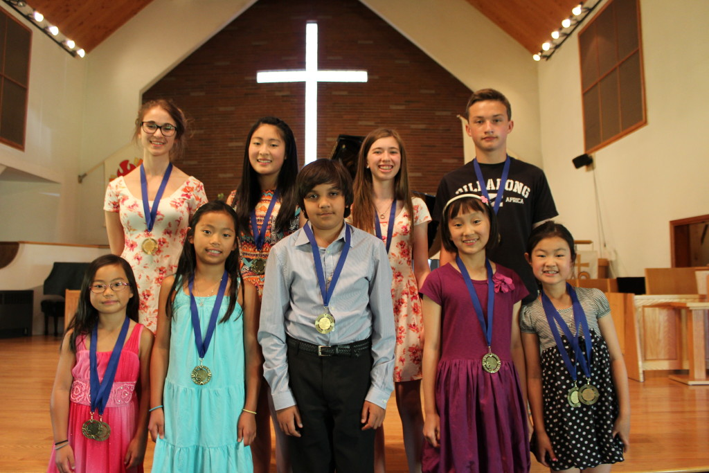Medal Recipients at the June 2015 Recital - First Class Honors in an RCM Exam