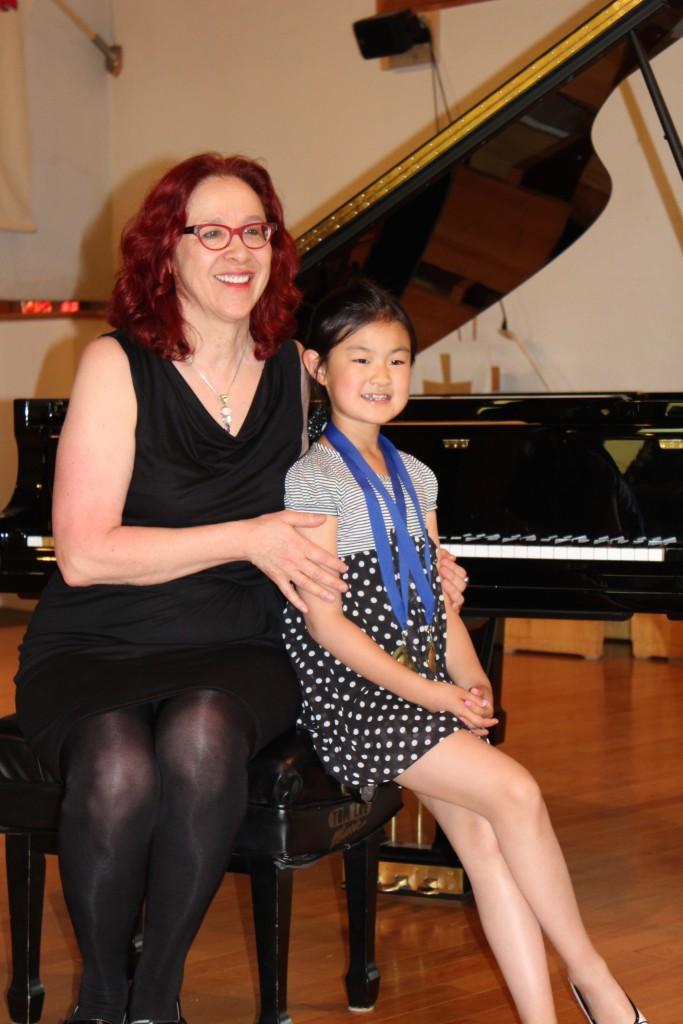 Paula and Helga at the June 2015 Recital