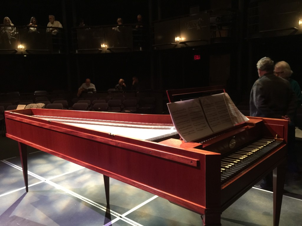 Replica of Mozart's Piano at the Early Music Concert of all Mozart's Work in April 2015 at the Chan