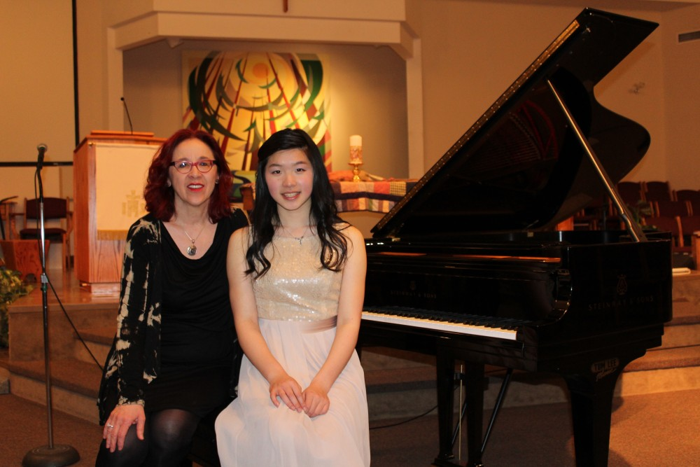 Helga Murray with Linda Ruan - Winner of BCRMTA Piano Competition for B.C